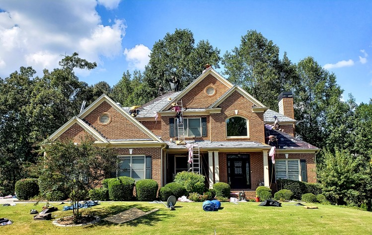 Roof Repair on Fairfax, Virginia Home.